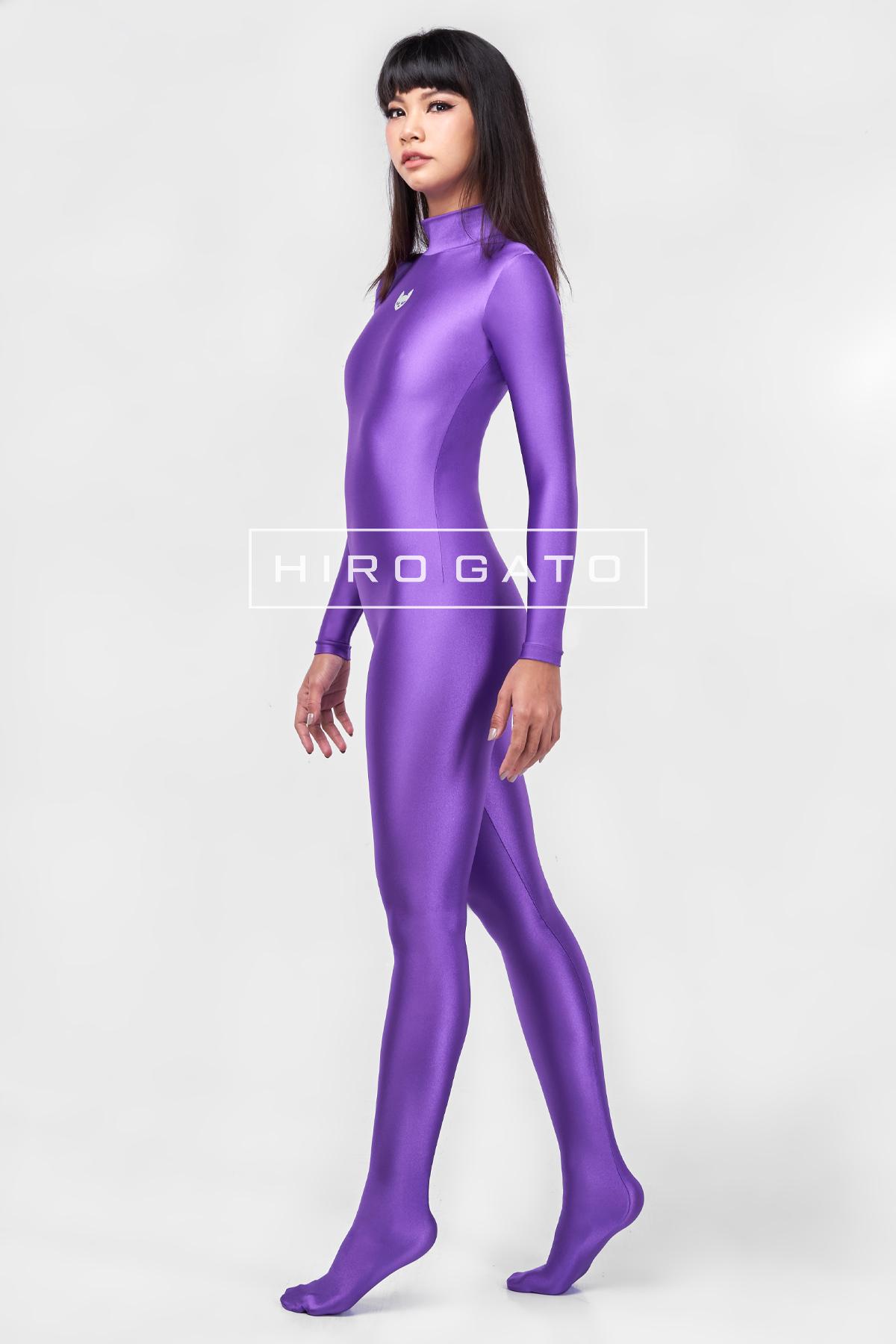 Spandex Catsuit Purple