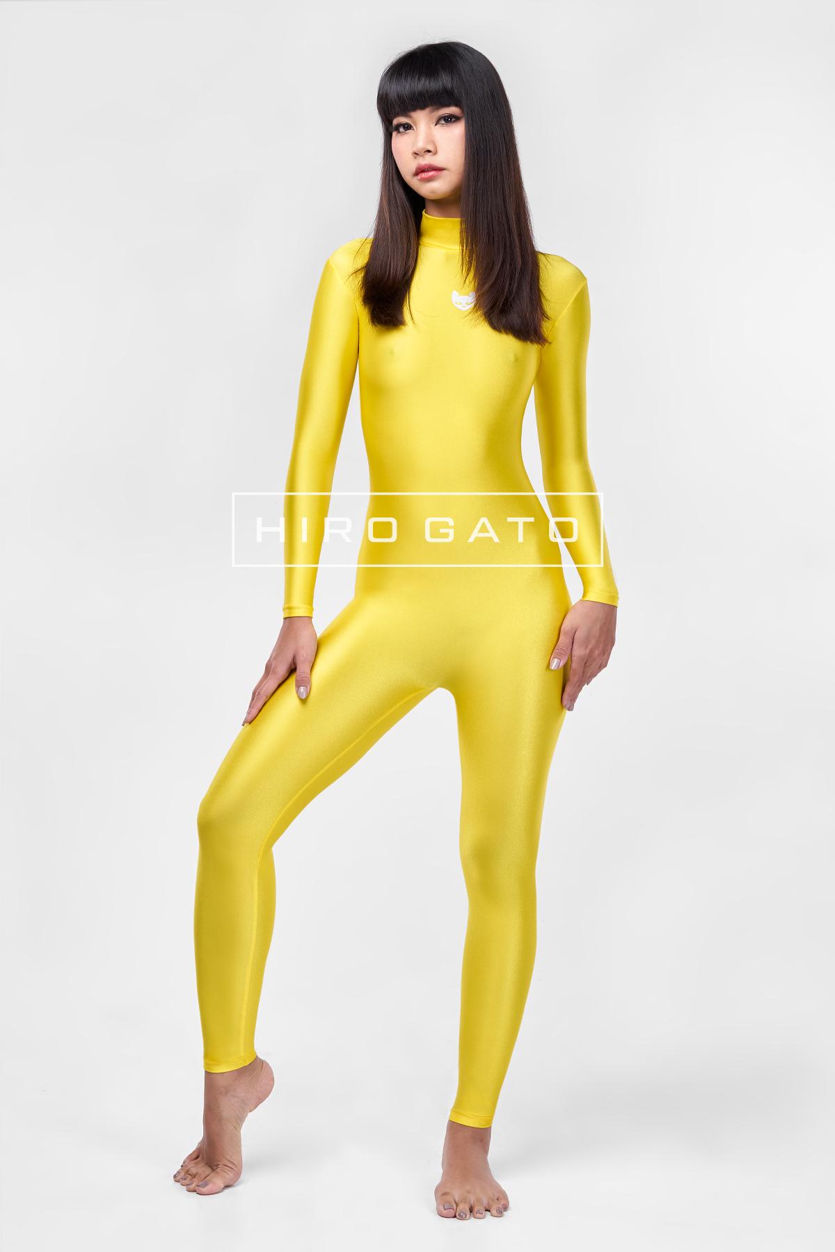 Spandex Catsuit Yellow