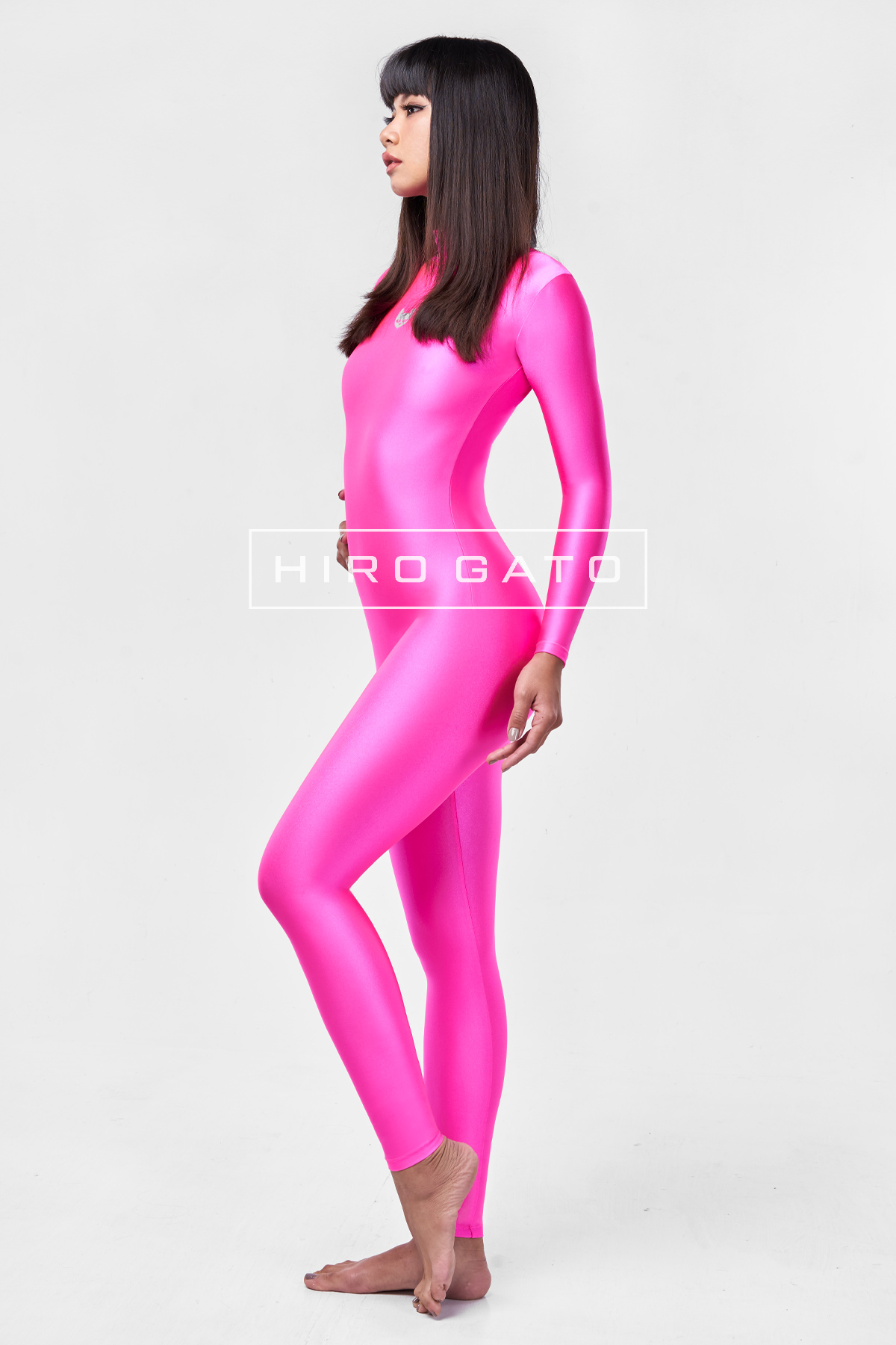 Spandex Catsuit Pink