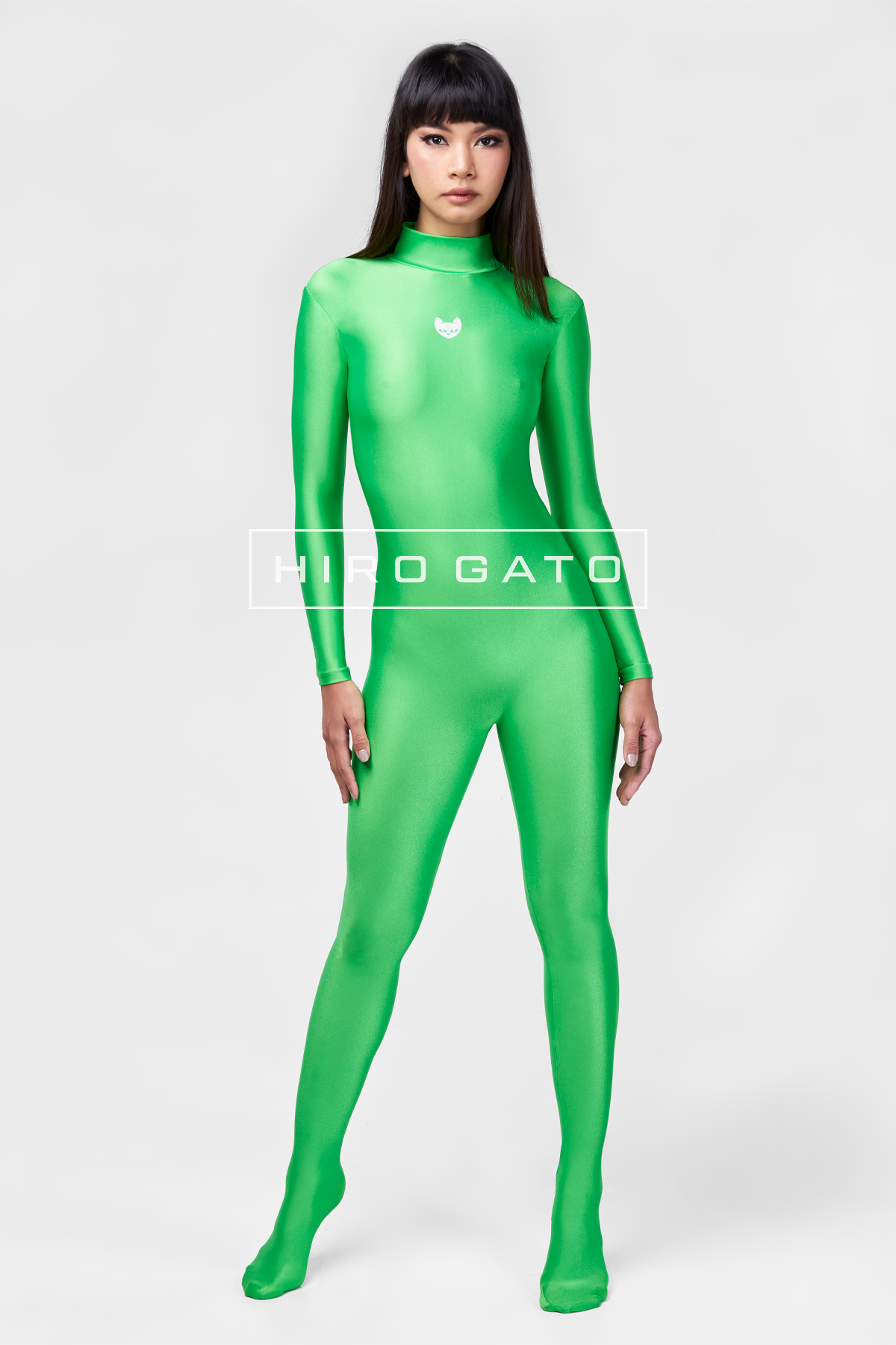 Spandex Catsuit Green