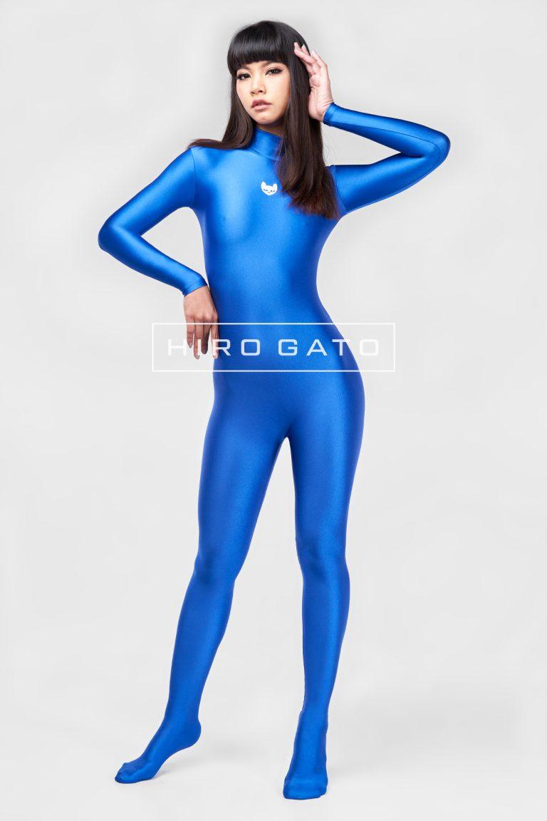 Spandex Catsuit Blue