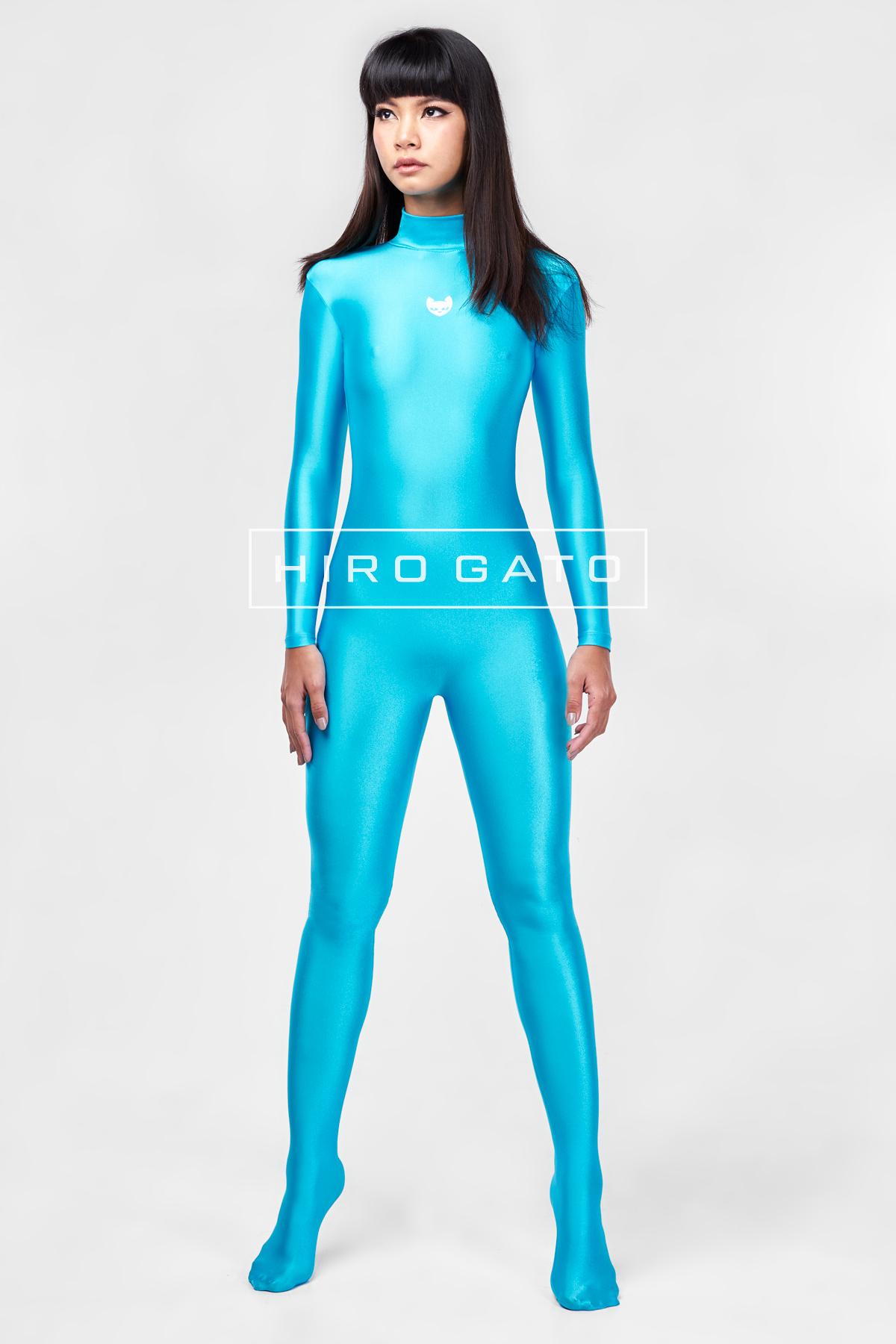 Spandex Catsuit Turquoise