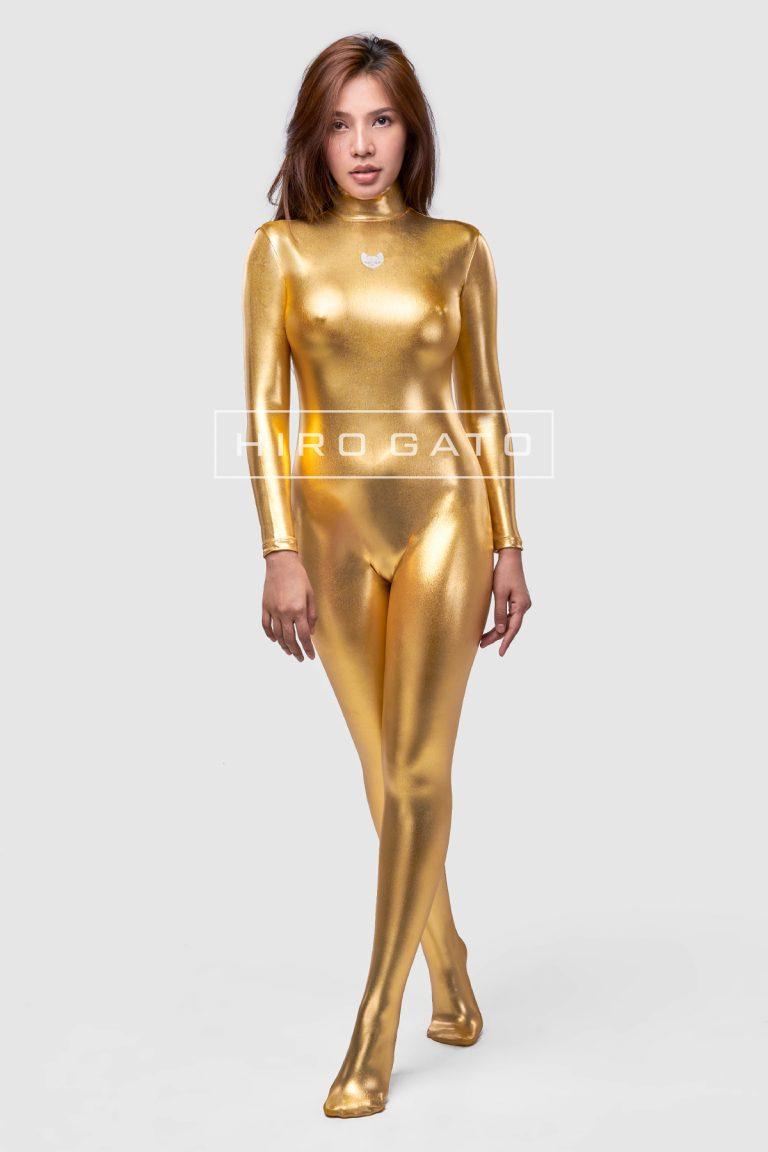 Shiny Metallic Spandex Catsuit