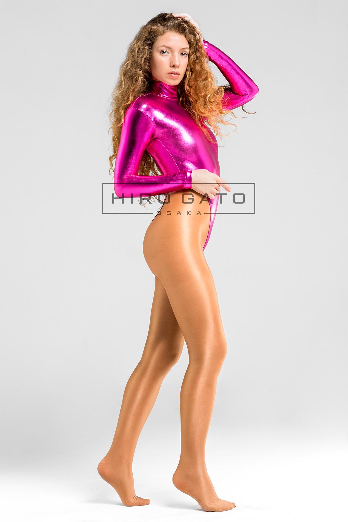 Pink Metallic Leotard