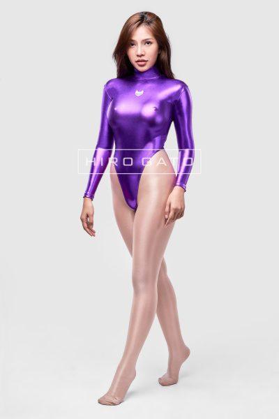 Leotard Metallic Spandex Purple