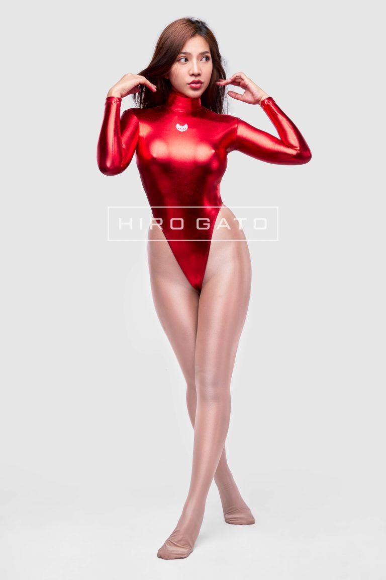 Leotard Metallic Spandex Red
