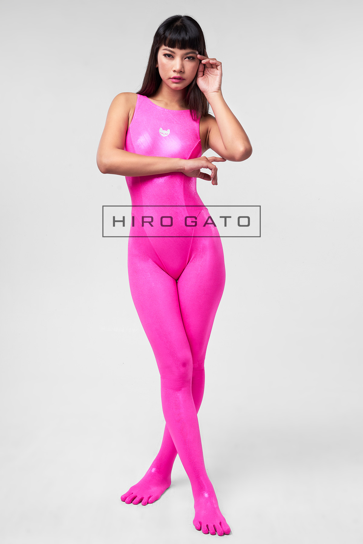 Metallic Lycra Unitard Pink