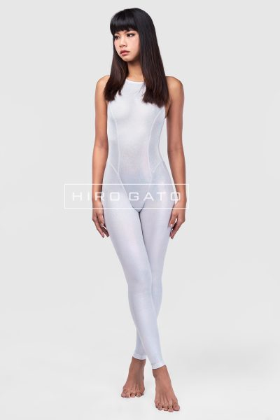 Lycra Unitard White